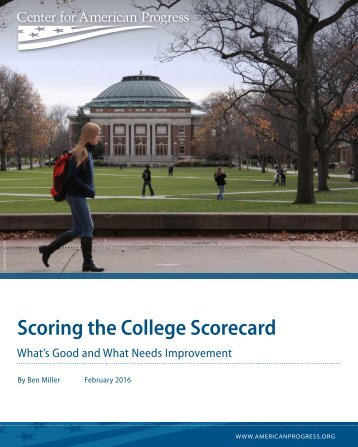 Scoring the College Scorecard