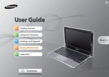 Samsung NP-NC210 (NP-NC210-A01FR ) - Manuel de l'utilisateur (Windows 7) 16.84 MB, pdf, Anglais