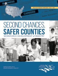 SECOND CHANCES SAFER COUNTIES