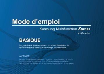 Samsung SL-M2070F Imprimante multifonction laser monochrome 3-en-1 (20 ppm) (SL-M2070F/SEE ) - Manuel de l'utilisateur 36.46 MB, pdf, Français