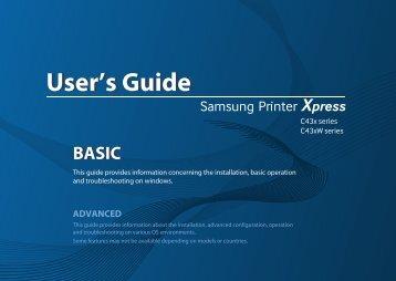 Samsung SL-C430 (SL-C430/SEE ) - Manuel de l'utilisateur 22.73 MB, pdf, Anglais