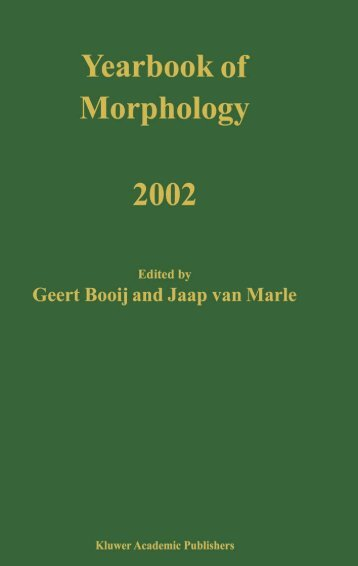 yearbook of morphology 2002 - PURE
