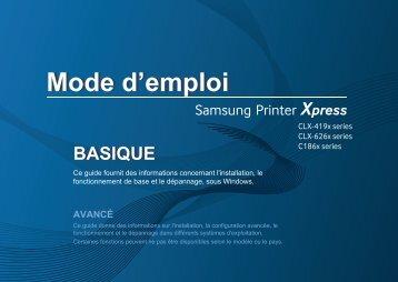 Samsung CLX-4195FN Multifonction Laser Couleur (18/18 ppm) (CLX-4195FN/SEE ) - Manuel de l'utilisateur 53.61 MB, pdf, Français