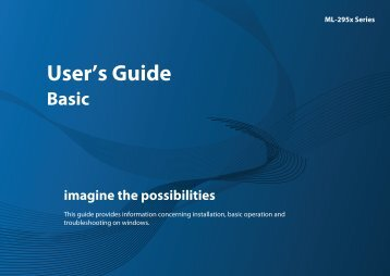 Samsung Imprimantes Laser Monochrome ML-2955DW (ML-2955DW/SEE ) - Manuel de l'utilisateur 29.21 MB, pdf, Anglais