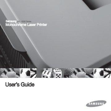 Samsung Toner laser standard Noir ML-4551NDR (ML-4551NDR/SEE ) - Manuel de l'utilisateur 6.37 MB, pdf, Anglais