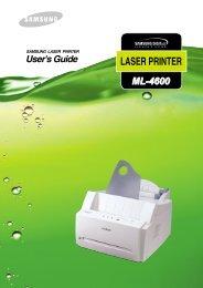 Samsung ML-4600 (ML-4600/XEF ) - Manuel de l'utilisateur 4.11 MB, pdf, Anglais
