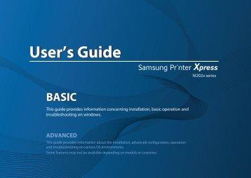 Samsung SL-M2026W (SL-M2026W/SEE ) - Manuel de l'utilisateur 21.21 MB, pdf, Anglais