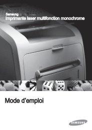 Samsung SCX-5315F (SCX-5315F/XEF ) - Manuel de l'utilisateur 4.63 MB, pdf, Français