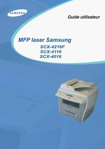 Samsung SCX-4216F (SCX-4216F/XEF ) - Manuel de l'utilisateur 7.39 MB, pdf, Français