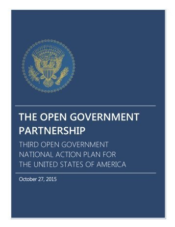 THE OPEN GOVERNMENT PARTNERSHIP