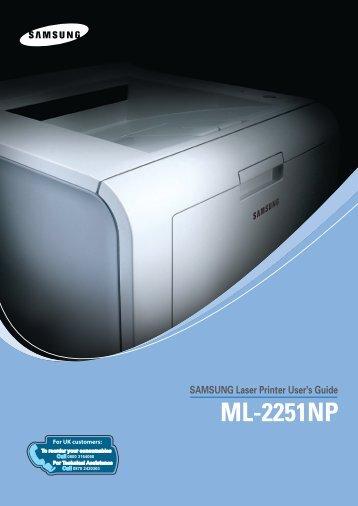 Samsung ML-2251NP (ML-2251NP/SEE ) - Manuel de l'utilisateur 7.19 MB, pdf, Anglais