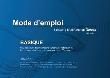 Samsung SL-C460W Imprimante multifonction laser couleur 3-en-1 (4/ 18 ppm) (SL-C460W/SEE ) - Manuel de l'utilisateur 42.63 MB, pdf, Français