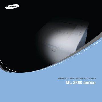 Samsung ML-3560 (ML-3560/SEE ) - Manuel de l'utilisateur 6.76 MB, pdf, Français