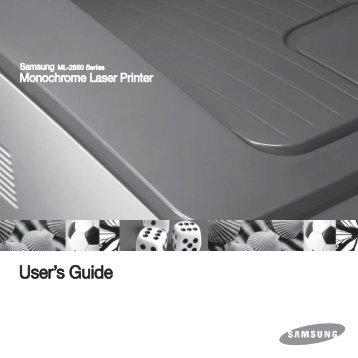 Samsung 28ppm Imprimante laser mono ML-2851NDR (ML-2851NDR/SEE ) - Manuel de l'utilisateur 5.55 MB, pdf, Anglais
