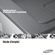 Samsung 28ppm Imprimante laser mono ML-2851NDR (ML-2851NDR/SEE ) - Manuel de l'utilisateur 6.5 MB, pdf, Français