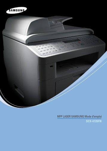 Samsung SCX-4720FN (SCX-4720FN/XEF ) - Manuel de l'utilisateur 8.18 MB, pdf, Français