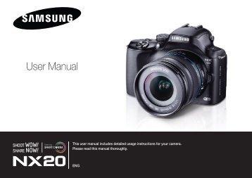 Samsung Samsung NX20 (EV-NX20ZZBSBFR ) - Manuel de l'utilisateur 9.23 MB, pdf, Anglais