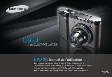 Samsung NV20 (EC-NV20ZBBA/E1 ) - Manuel de l'utilisateur 8.07 MB, pdf, Français