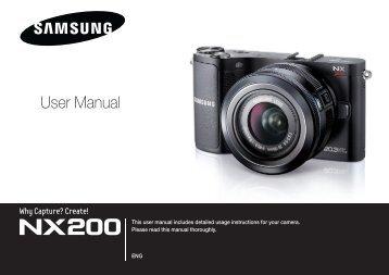 Samsung Samsung NX200 (EV-NX200ZBSBFR ) - Manuel de l'utilisateur 7.04 MB, pdf, Anglais