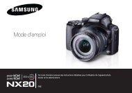 Samsung Samsung NX20 (EV-NX20ZZBSBFR ) - Manuel de l'utilisateur 9.25 MB, pdf, Français