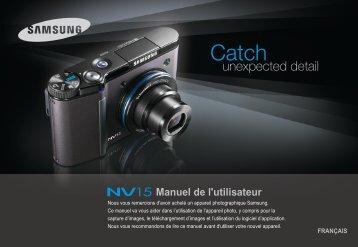 Samsung NV15 (EC-NV15ZBBA/E1 ) - Manuel de l'utilisateur 7.6 MB, pdf, Français