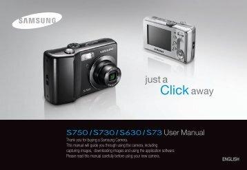 Samsung S730 (EC-S730ZBBA/E1 ) - Manuel de l'utilisateur 8.97 MB, pdf, Anglais