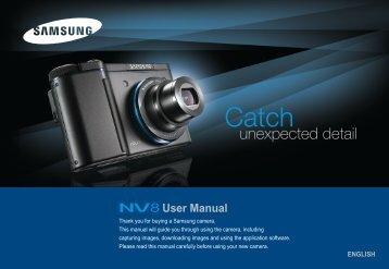 Samsung NV8 (EC-NV8ZZBBA/E1 ) - Manuel de l'utilisateur 7.49 MB, pdf, Anglais