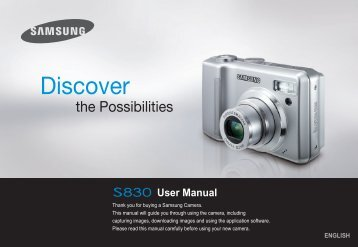Samsung S830 (EC-S830ZBBA/FI ) - Manuel de l'utilisateur 7.06 MB, pdf, Anglais