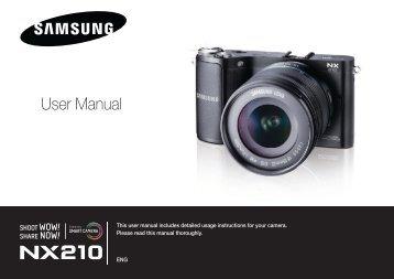 Samsung SMART CAMERA NX210 (EV-NX210ZBSBFR ) - Manuel de l'utilisateur 8.03 MB, pdf, Anglais