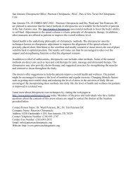 San Antonio Chiropractic Office, Peterson Chiropractic, PLLC, Puts A New Twist On Chiropractic Care