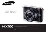 Samsung NX100 (EV-NX100ZBABFR ) - Manuel de l'utilisateur 7.21 MB, pdf, Français