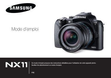 Samsung NX11 (EV-NX11ZZBABFR ) - Manuel de l'utilisateur 9.28 MB, pdf, Français