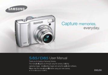 Samsung S85 (EC-S85ZZBBA/E1 ) - Manuel de l'utilisateur 10.42 MB, pdf, Anglais