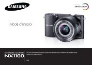 Samsung Samsung NX1100 blanc (EV-NX1100BQWFR ) - Manuel de l'utilisateur 8.56 MB, pdf, Français