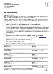 Wertsachenliste - Kantonspolizei St.Gallen - Kanton St. Gallen