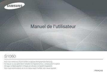 Samsung S1060 (EC-S1060B01KFR ) - Manuel de l'utilisateur 8.28 MB, pdf, Français