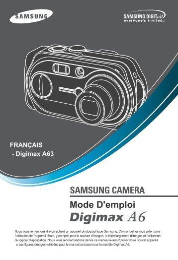 Samsung DIGIMAX A6 (EC-A6ZZZSBA/E1 ) - Manuel de l'utilisateur 8.63 MB, pdf, Français