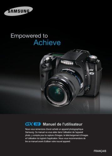 Samsung GX-10 (ER-GX10ZBBA/DK ) - Manuel de l'utilisateur 12.45 MB, pdf, Français