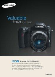 Samsung GX-1L (ER-GX1LZBBA/E1 ) - Manuel de l'utilisateur 4.93 MB, pdf, Français