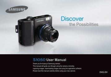 Samsung S1050 (EC-S1050BBA/FR ) - Manuel de l'utilisateur 8.75 MB, pdf, Anglais