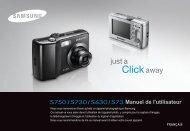 Samsung S750 (EC-S750ZBBA/E1 ) - Manuel de l'utilisateur 9.41 MB, pdf, Français