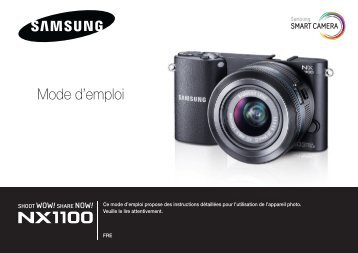 Samsung SMART CAMERA NX1000 (EV-NX1000BABFR ) - Manuel de l'utilisateur 8.56 MB, pdf, Français