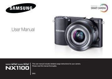 Samsung SMART CAMERA NX1000 (EV-NX1000BABFR ) - Manuel de l'utilisateur 8.28 MB, pdf, Anglais