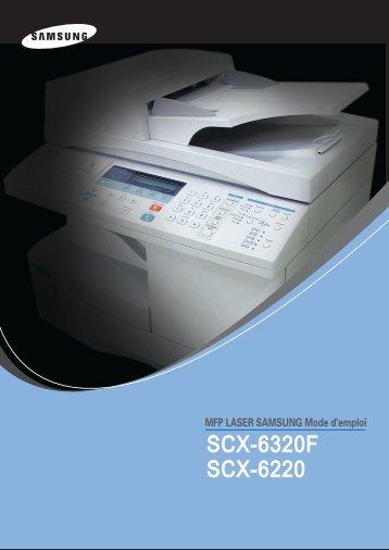 Samsung SCX-6220 (SCX-6220/XEF ) - Manuel de l'utilisateur 10.4 MB, PDF, Français