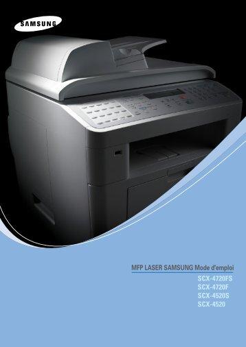 Samsung SCX-4520 (SCX-4520/XEF ) - Manuel de l'utilisateur 11.25 MB, PDF, Français