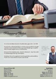 Präsentation der Kitzmann & Partner GbR - Ihre Fachanwälte für Arbeitsrecht