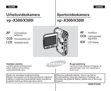 Samsung VP-X300L (VP-X300L/XEF ) - Manuel de l'utilisateur 20.1 MB, pdf, NÉERLANDAIS, Français