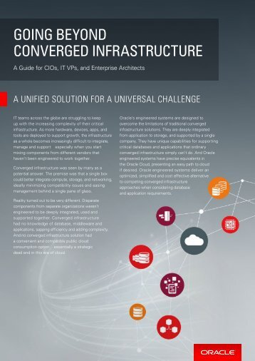 GOING BEYOND CONVERGED INFRASTRUCTURE