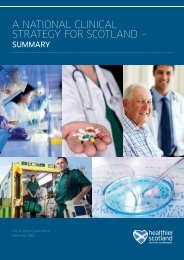 A NATIONAL CLINICAL STRATEGY FOR SCOTLAND –