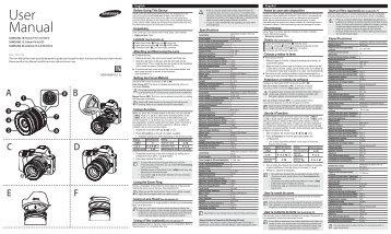 Samsung Objectif NX 18 - 55 mm III f/3,5-5,6 OIS (EX-S1855CSW ) - Manuel de l'utilisateur 0.01MB, pdf, Anglais, Français